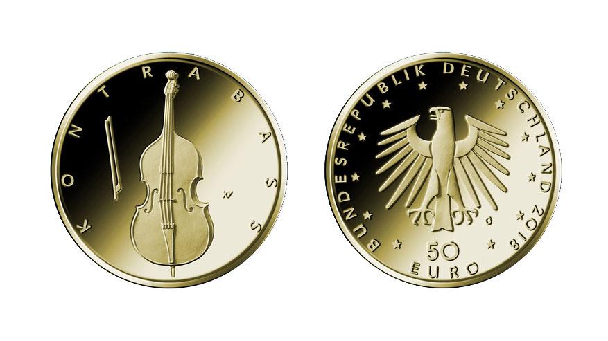 Kontrabass Euromünze In Gold Jonas Kontrabass Blog