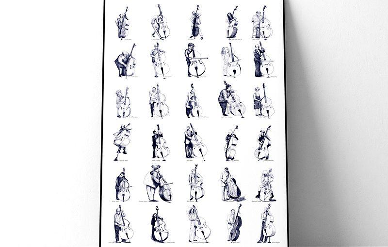 Porträts von Jazzbassisten als Poster